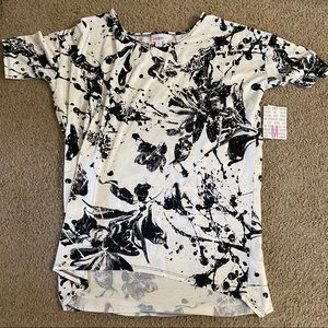New Women's White and Black Floral Splatter Irma